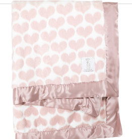 Little Giraffe Luxe Heart Army Blanket - Dusty Pink