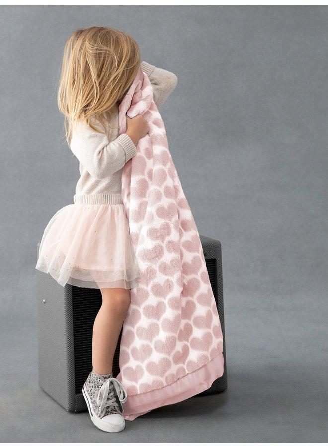 Luxe Heart Army Blanket - Dusty Pink