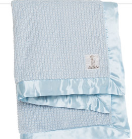 Little Giraffe Luxe Herringbone Blanket - Blue