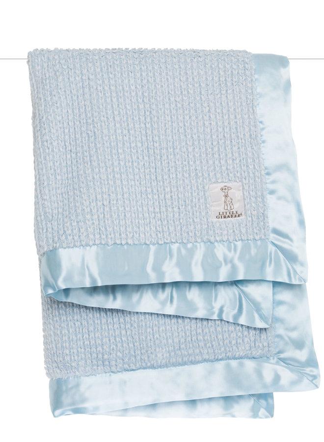 Luxe Herringbone Blanket - Blue