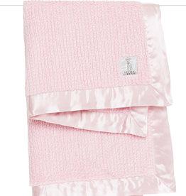 Little Giraffe Luxe Herringbone Blanket - Pink