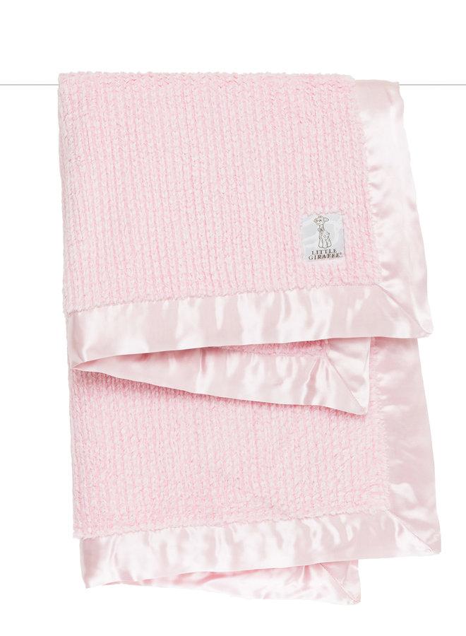 Luxe Herringbone Blanket - Pink