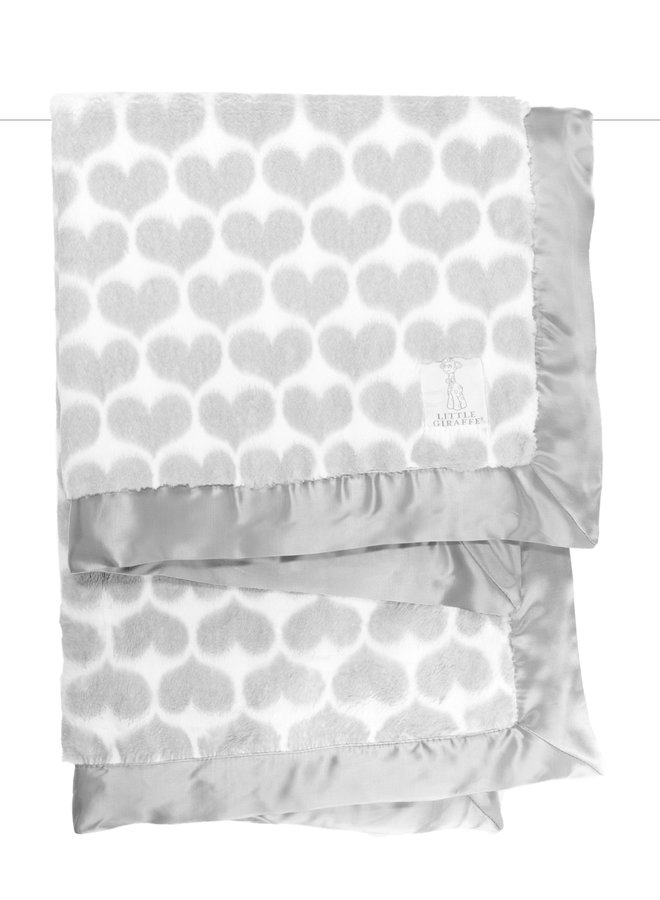 Luxe Heart Army Blanket - Silver