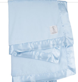 Little Giraffe Luxe Solid Blanket - Blue