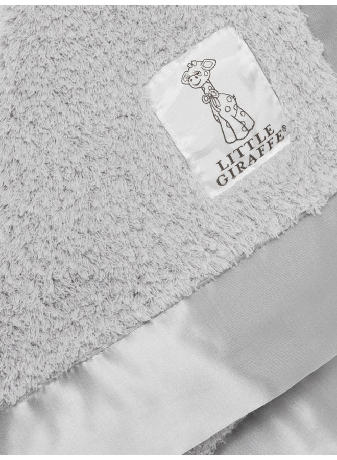 Chenille Blanky - Silver