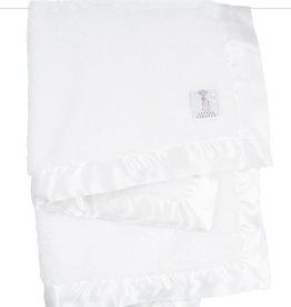 Little Giraffe Chenille Blanket - White