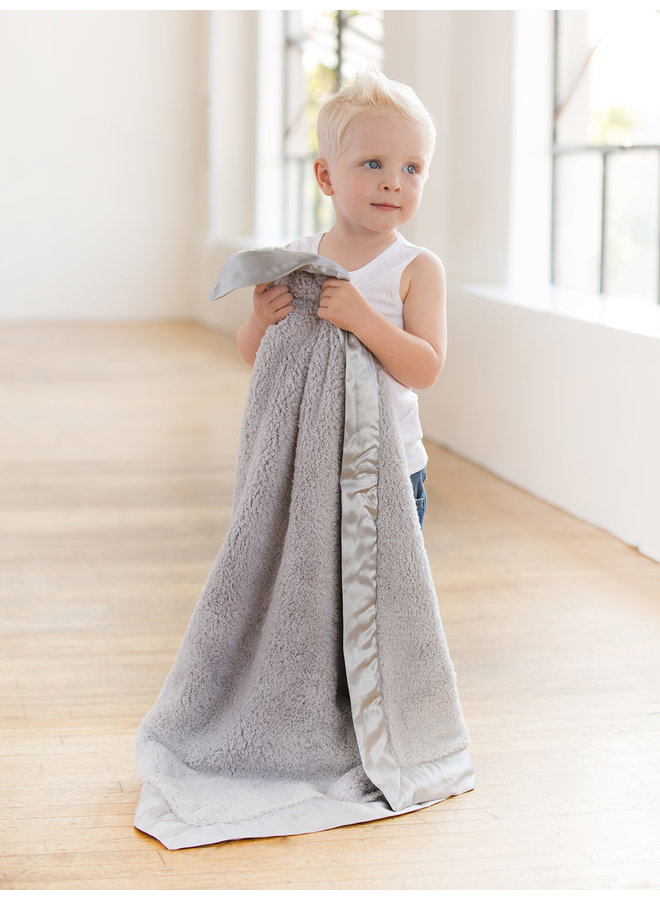 Chenille Blanket - Silver