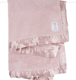 Little Giraffe Chenille Blanket - Dusty Pink