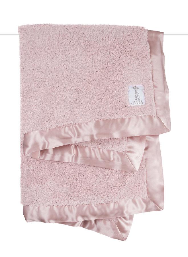 Chenille Blanket - Dusty Pink