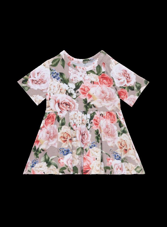Cassie - Short Sleeve Peplum Top & Bloomer Set
