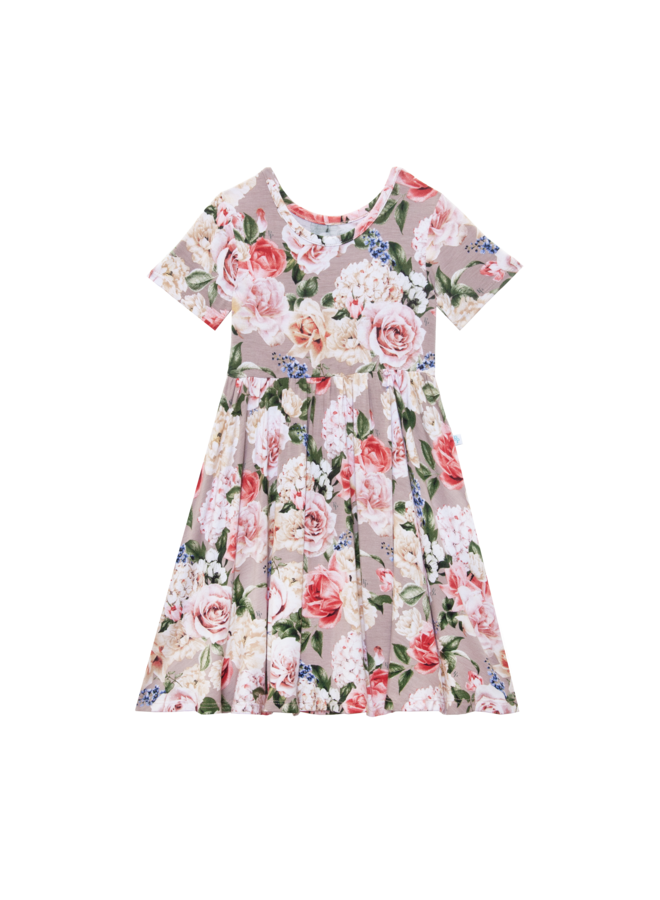 Cassie - Short Sleeve Twirl Dress