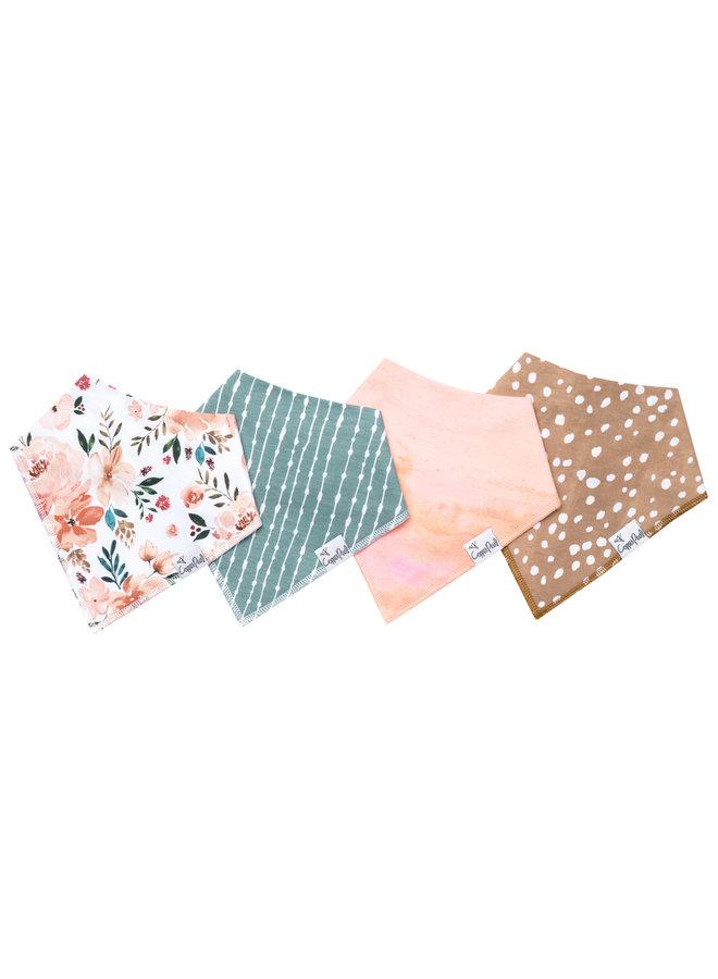 Autumn Baby Bandana Bib Set (4-pack)