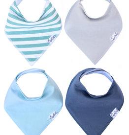 Oxford Baby Bandana Bib Set (4-pack)