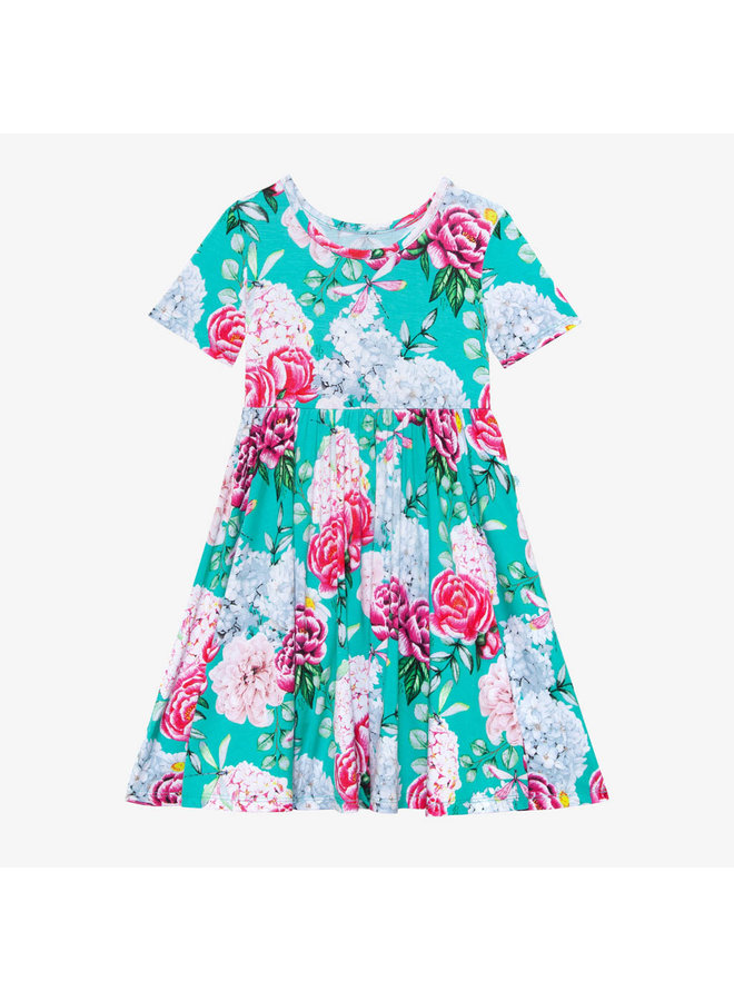 Eloise - Short Sleeve Basic Twirl Dress