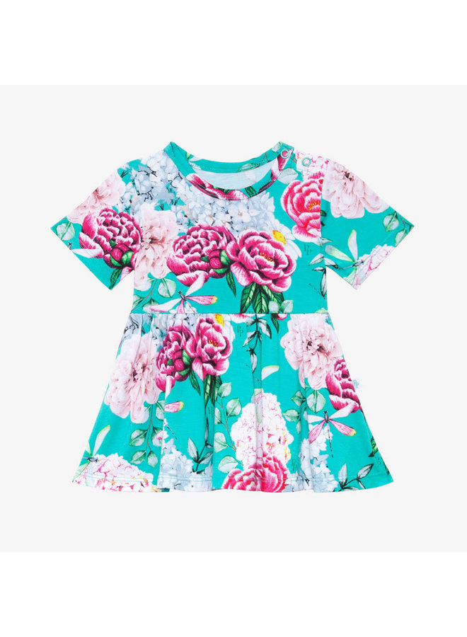 Eloise - Short Sleeve Basic Peplum Top & Bloomer Set