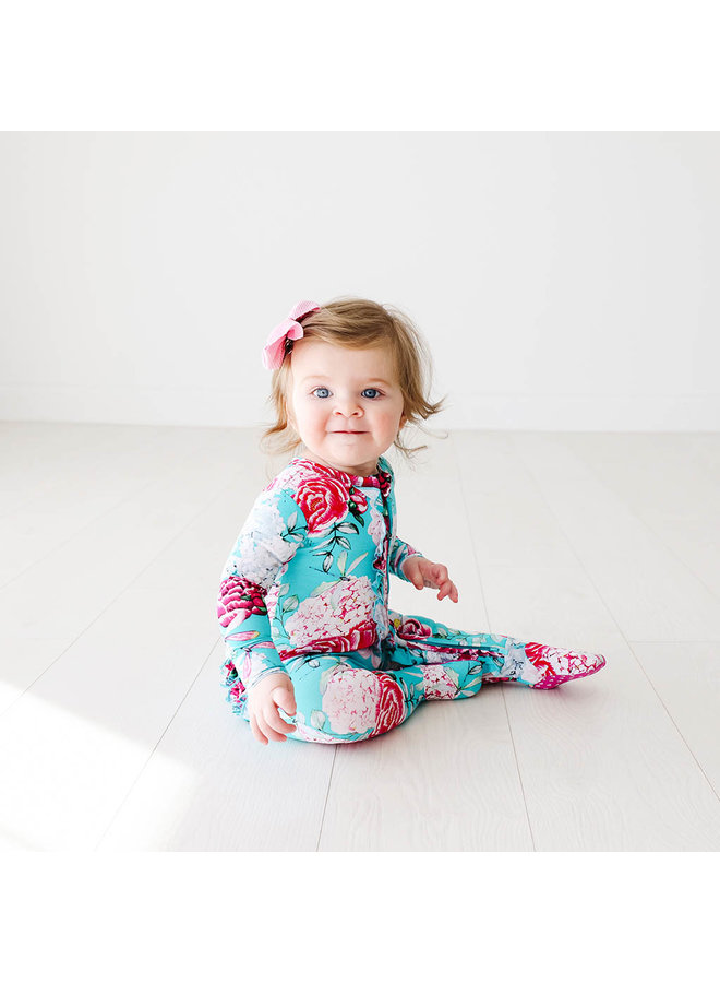 Eloise - Ruffled Zippered Footie