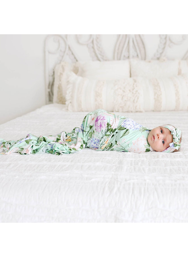 Erin - Infant Swaddle and Headwrap Set
