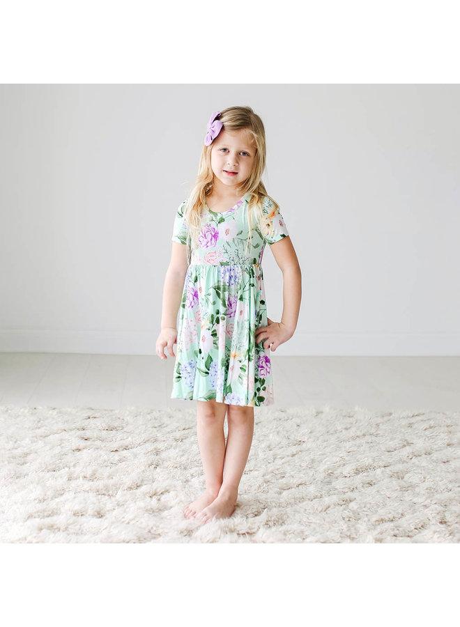 Erin - Short Sleeve Basic Twirl Dress