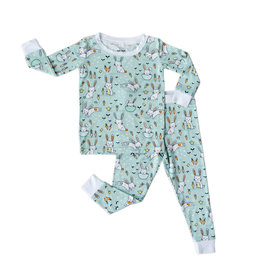 Little Sleepies Mint Bunnies Bamboo Viscose Pajama Set