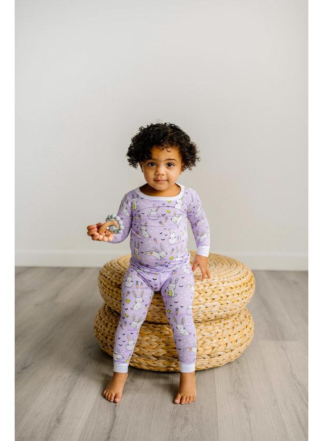 Lavendar Bunnies Bamboo Pajama Set