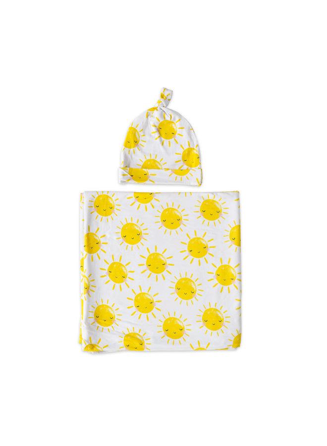 Sunshine Swaddle & Hat Gift Set