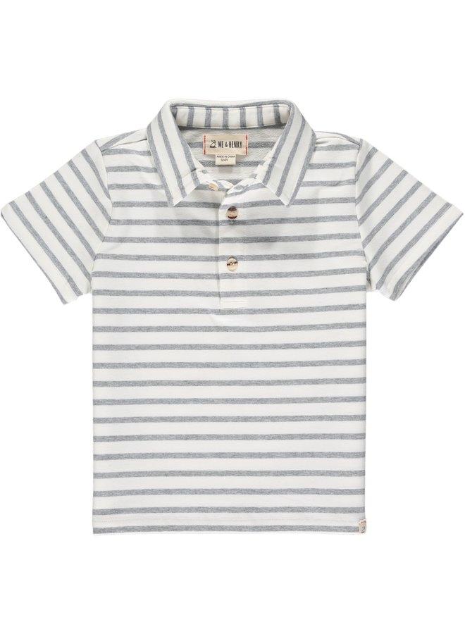 FLAGSTAFF polo - White/Grey Stripe