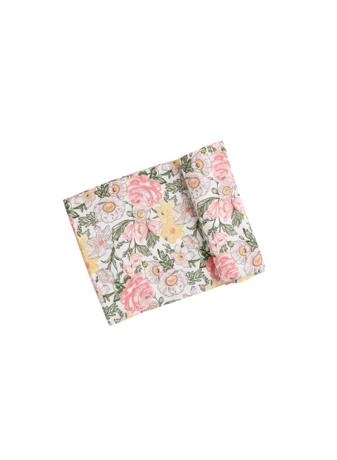 Traditional Floral Swaddle Blanket