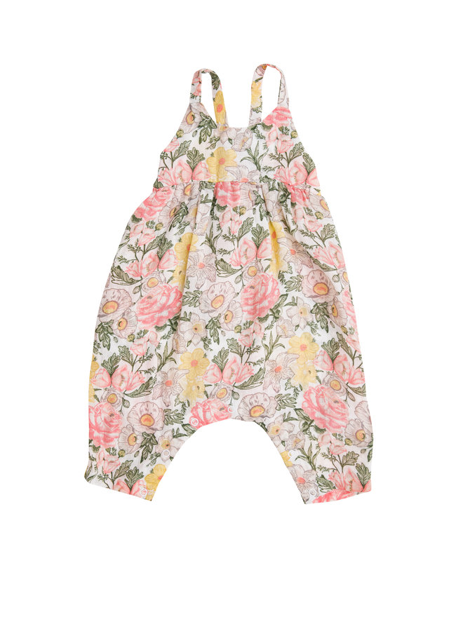 Traditional Floral Tie Back Romper