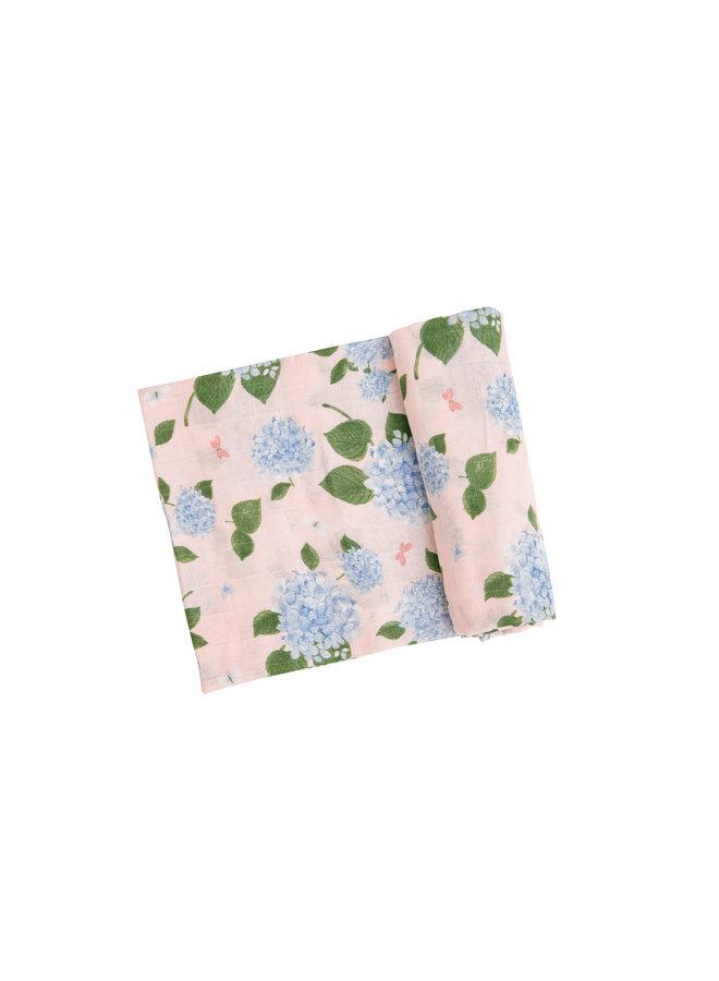 Hydrangea Swaddle Blanket