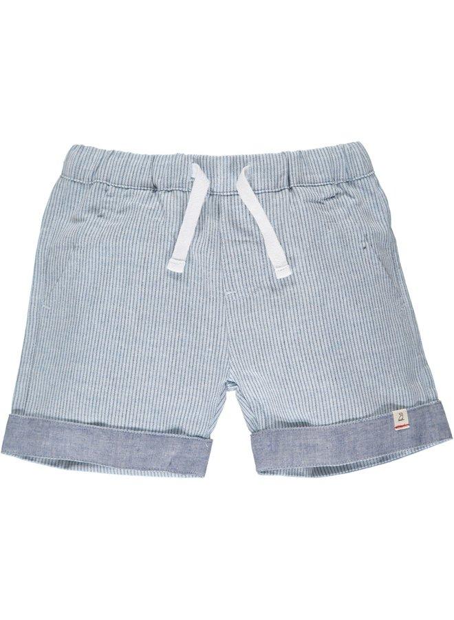 MARINA turn-up shorts - Chambray Stripe