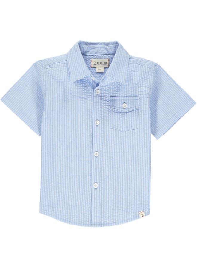 NEWPORT short sleeved shirt - Bl/Wh Stripe