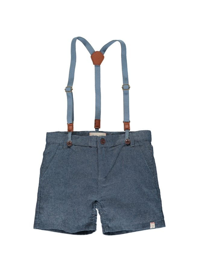 CAPTAIN shorts with suspenders - Chambray