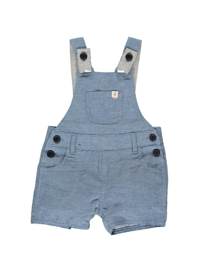 BOWLINE shortie overalls - Pale gray