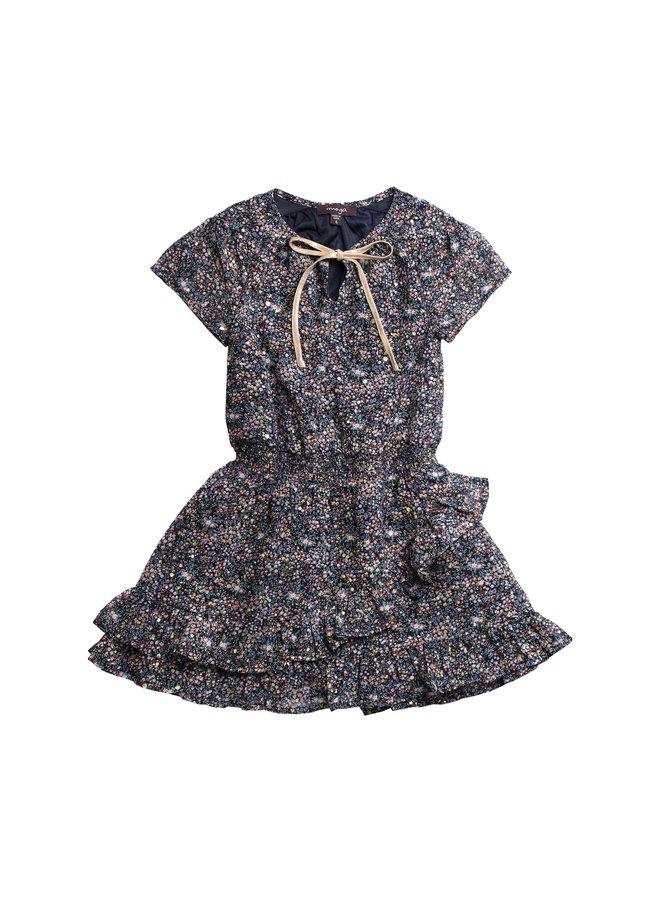 Printed Chiffon Dress - Meadow
