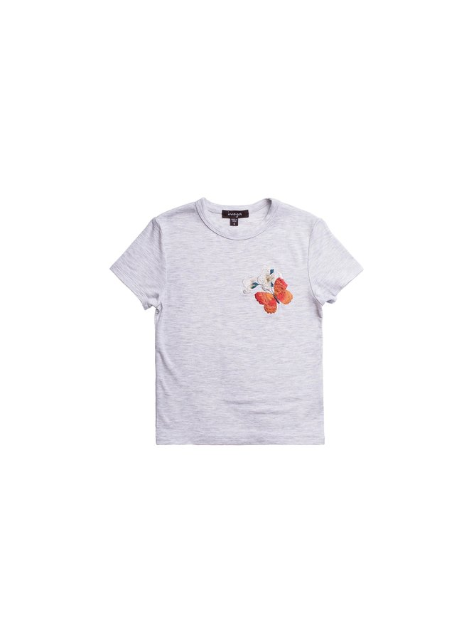 Embellished Graphic Tee - Butterfly Melange