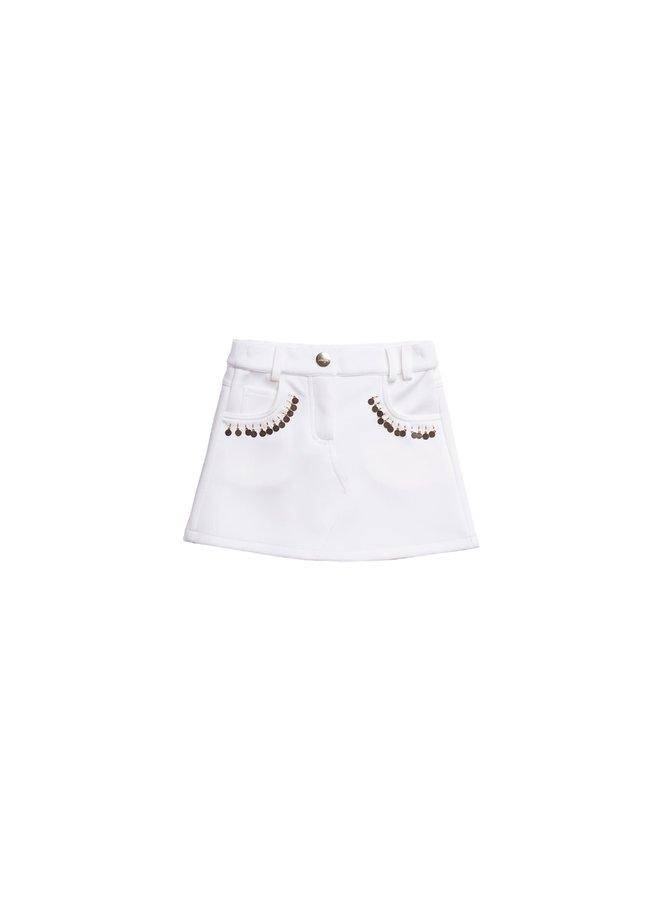 Double Knit Skirt  - Cream