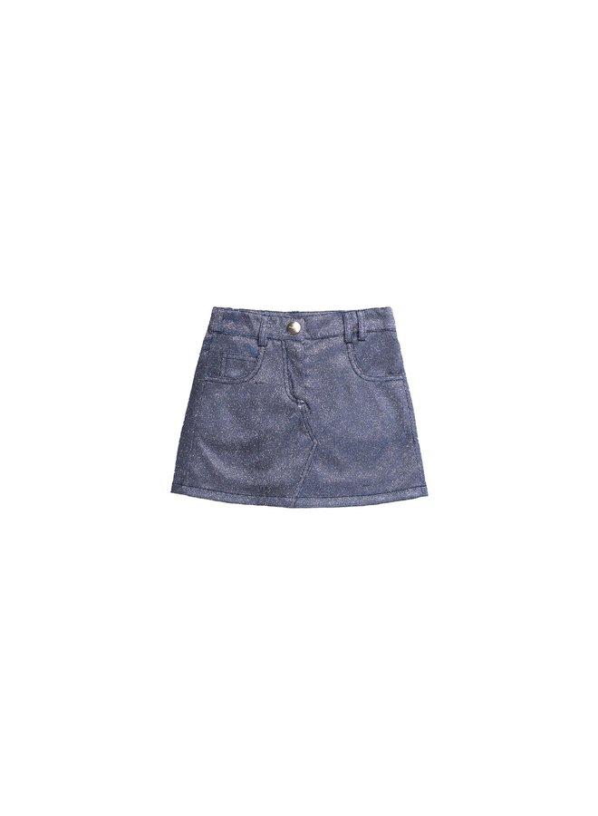Metallic Glitted Skirt - Rain