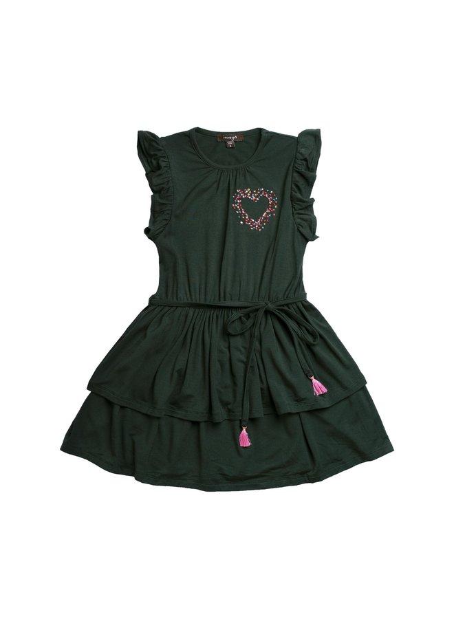Jersey Knit Dress - Emerald