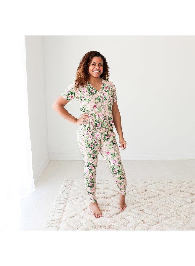 Renia - Womens Short Sleeve Pajamas