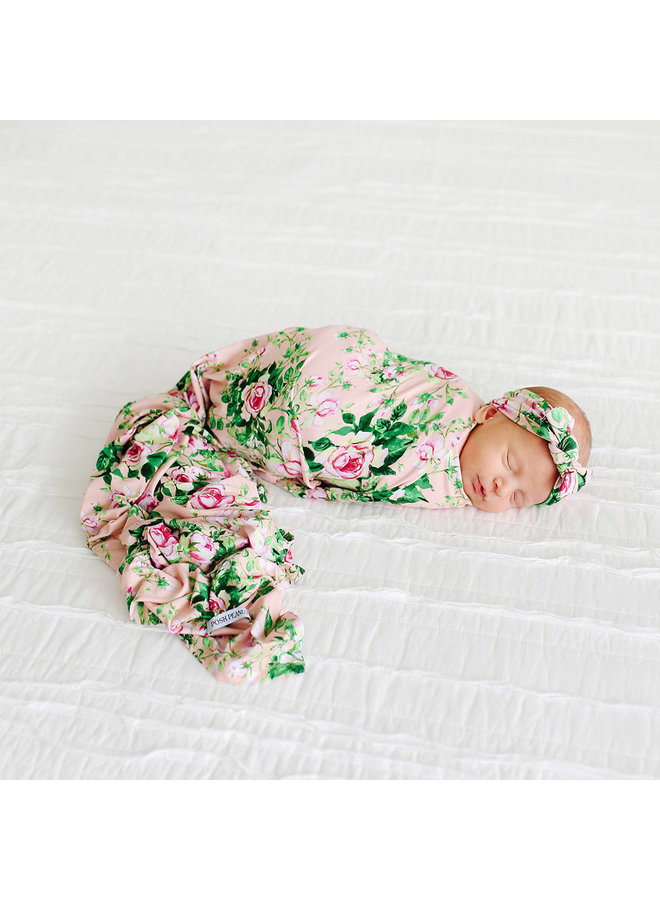 Renia - Infant Swaddle and Headwrap Set