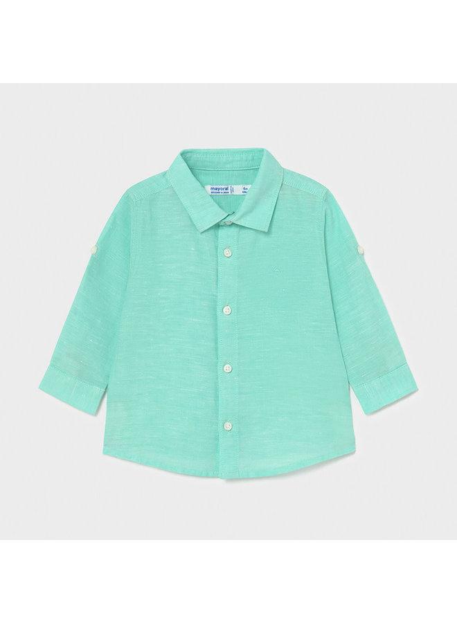 Basic Linen LS Shirt - Aqua