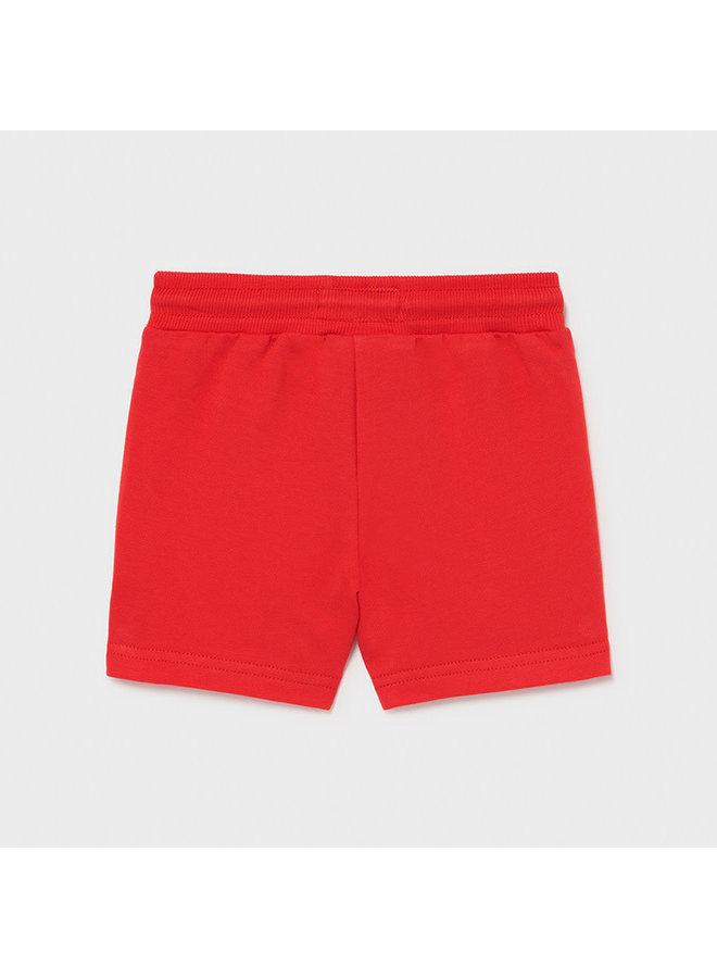 Basic Fleece Shorts - Cyber Red