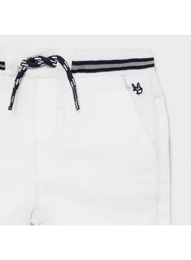 Twill Bermuda Short - White