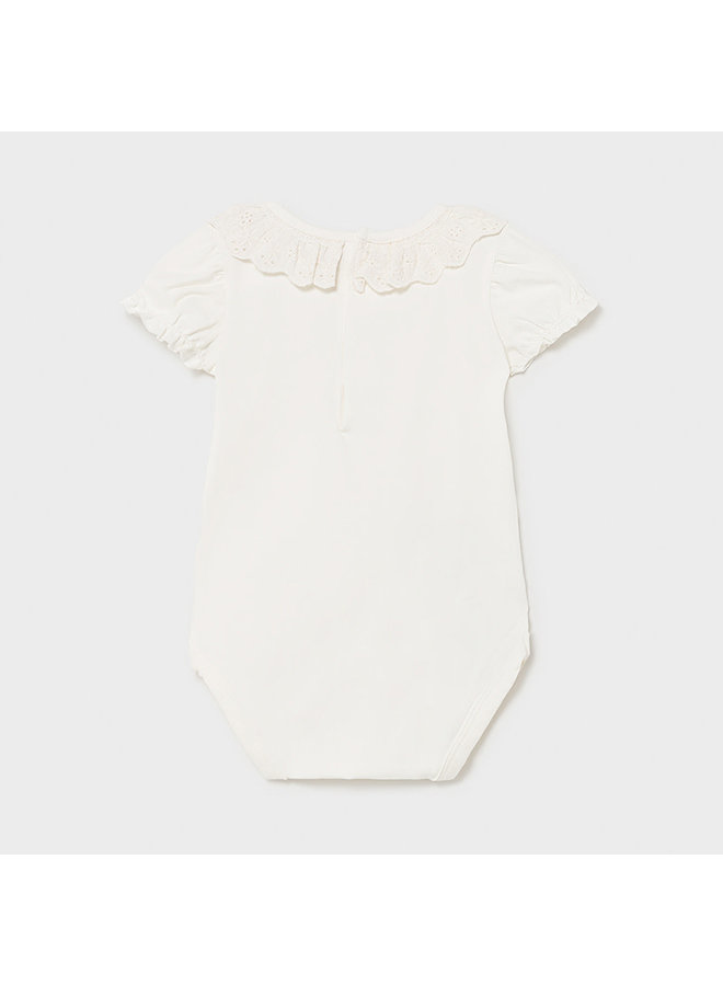 Bodysuit with Ruffle Collar - Natural