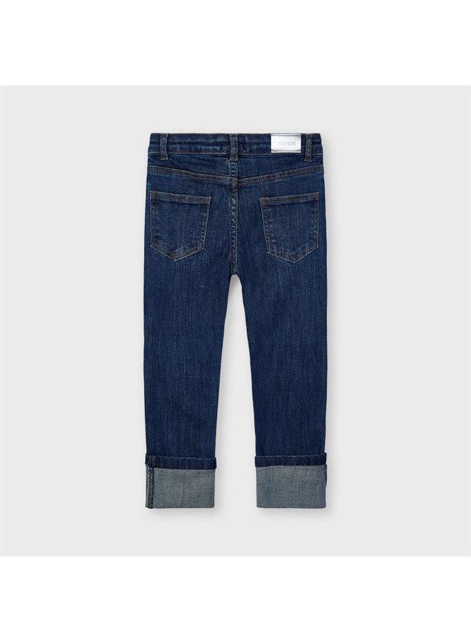 Long Skinny Denim Pants - Dark