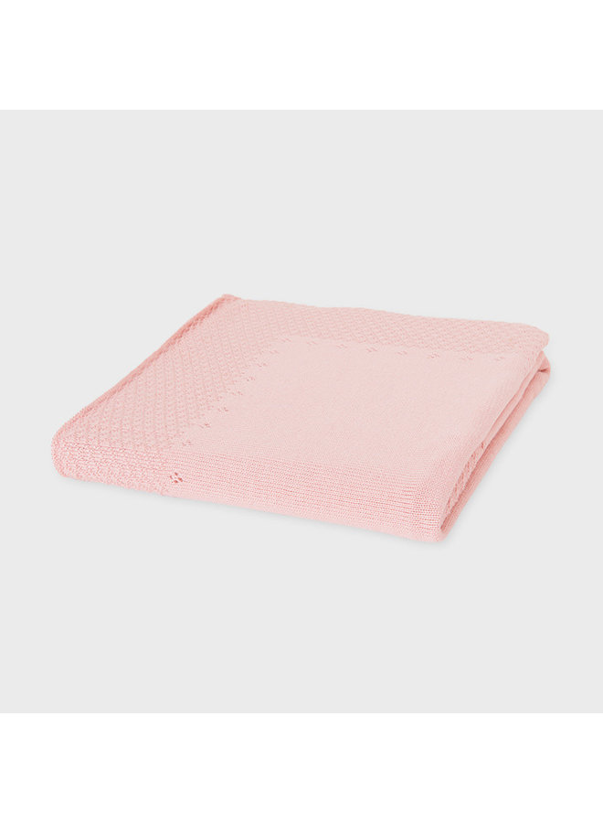 Knit Baby Blanket - Pink
