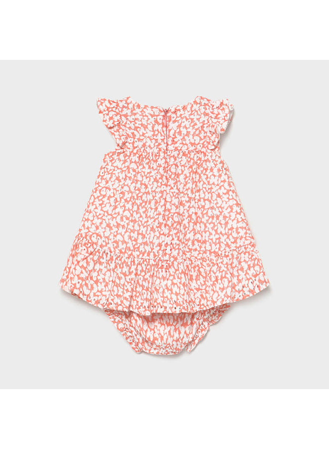 Patterned Perforated Dress - Sorbet