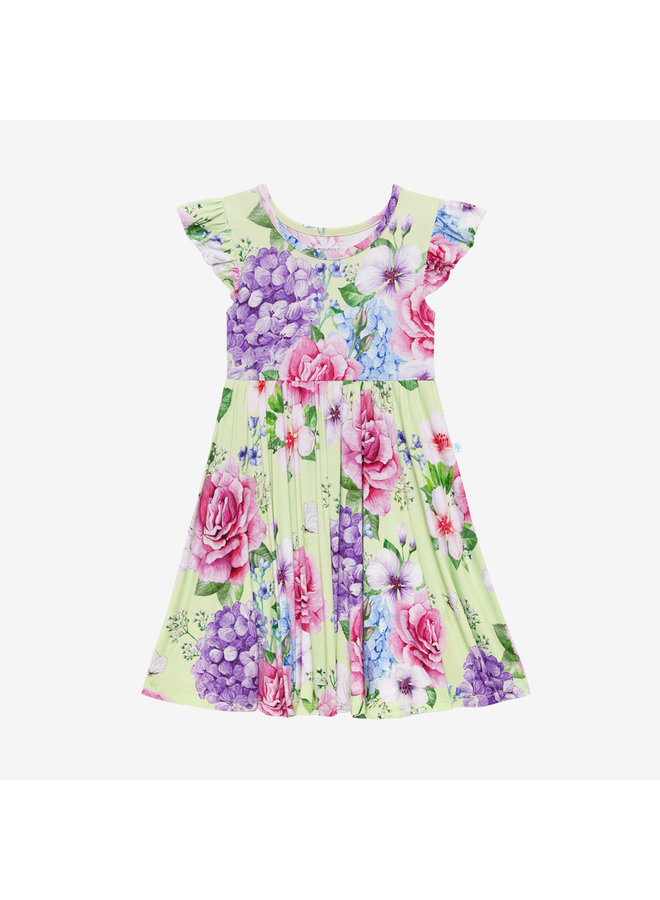 Georgina - Ruffled Capsleeve Twirl Dress