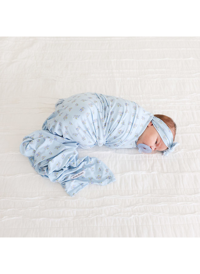 Grace - Infant Swaddle & Headwrap Set *PREORDER*