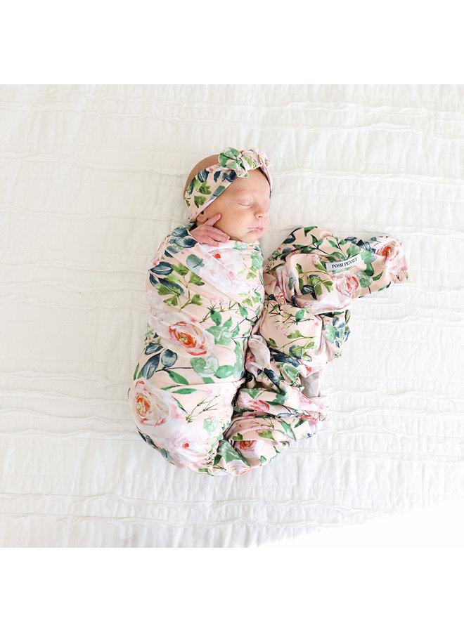 Harper- Infant Swaddle & Headwrap